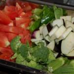 夏野菜のナポリタン