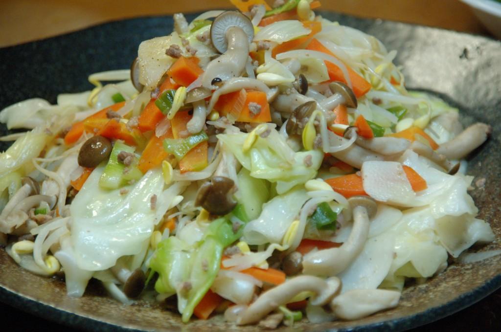 オイシックスの野菜で炒め物