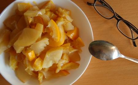 果物のシチュー
