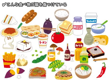 カンジダ症やリーキーガットの原因となる食べ物