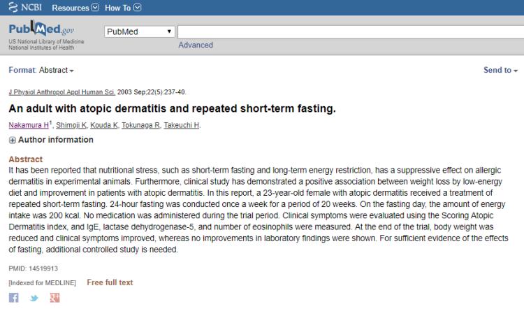 断食がアトピーを改善する研究