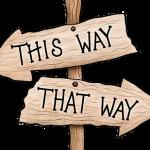 どちらの道を選ぶか